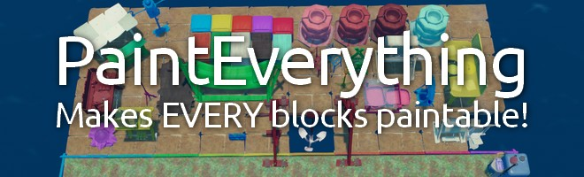 banner for the Paint Everything mod